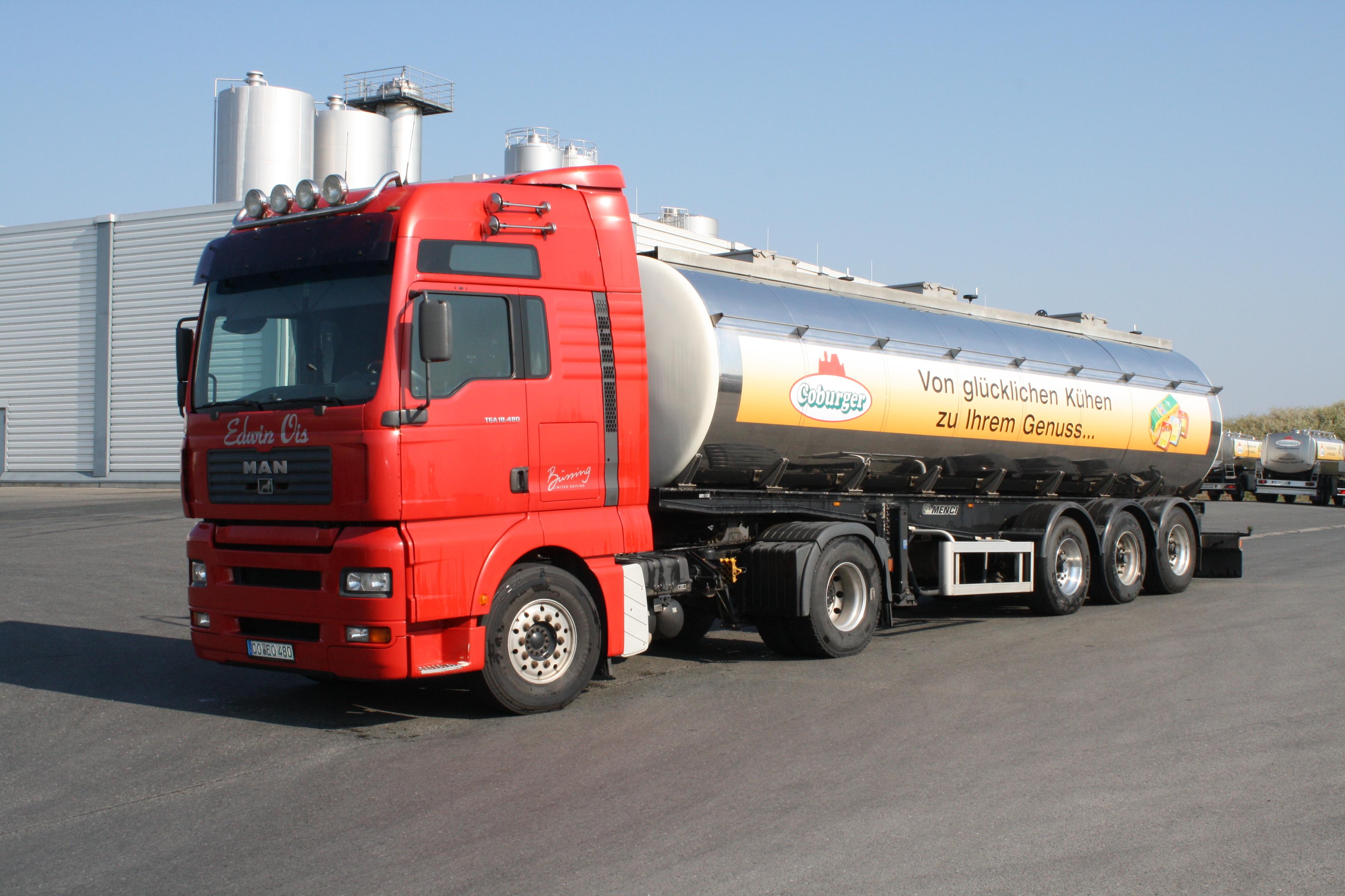 Es werden inzwischen täglich 1.000.000 Liter Milch verarbeitet.
